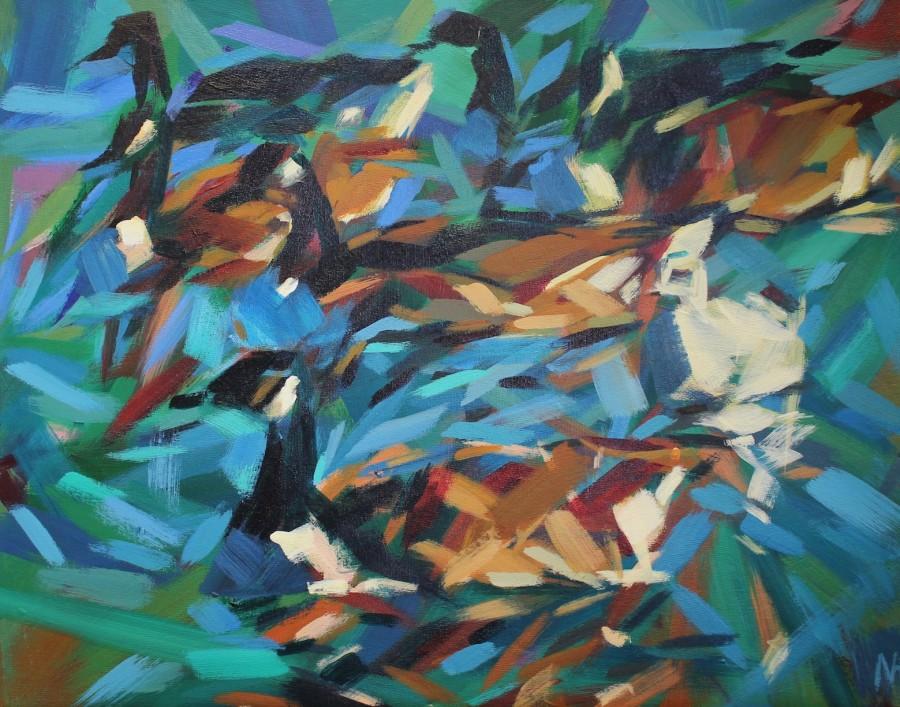 Marie Antoniou bird  on the water